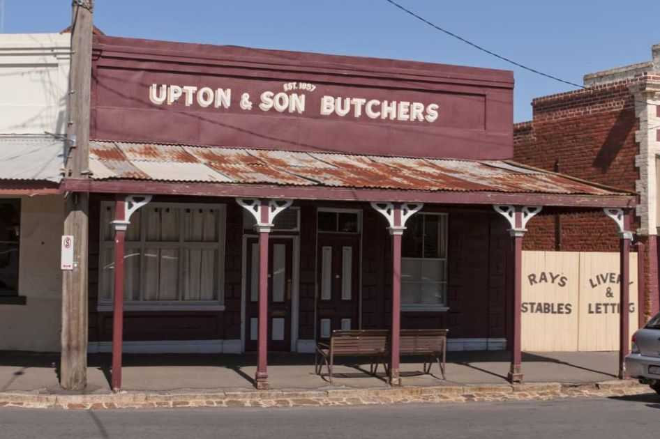 Upton's Butcher Shop, c1858
