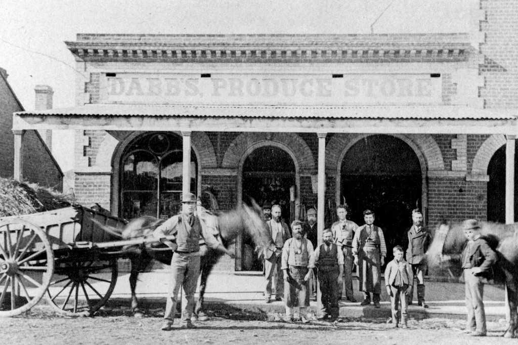 Dabb's Produce Store, c1868
